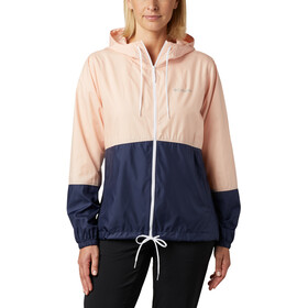 Columbia Flash Forward Chaqueta Cortavientos Mujer, peach cloud/nocturnal/white